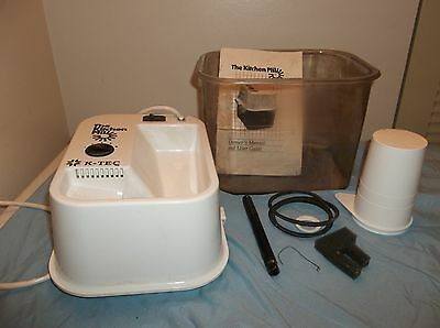 Kitchen Mill Model 91 Electric Grain Mill by K-TEC w/ Cup & Filter & Manual