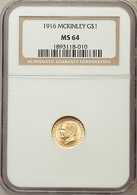 1916 McKinley Gold D Commemorative Gold NGC MS 64