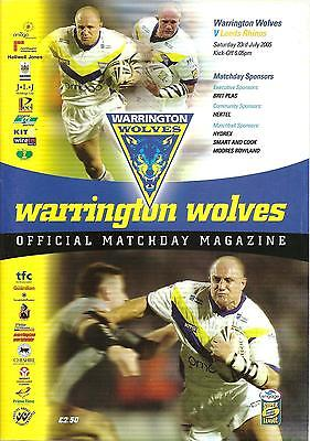 Warrington v Leeds - Super League - 2005