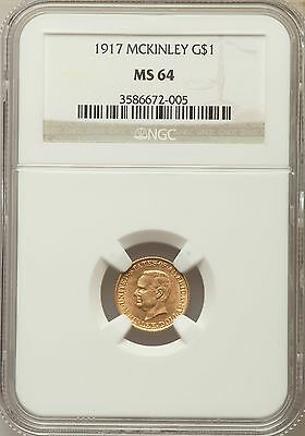 1917 McKinley Gold D Commemorative Gold NGC MS 64