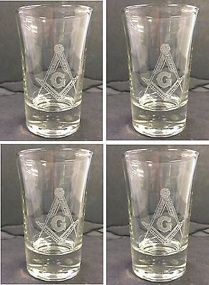 Masonic Shot Glass (Sold in groups of 4) Super Hot item!!!