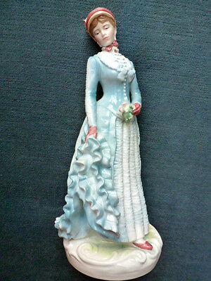 FINE ROYAL WORCESTER FIGURE FIGURINE THE BUSTLE RW4454 with certificate