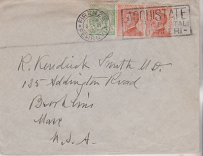 1925 Good Italy Italia Cover With High Value Stamps Mailed To America