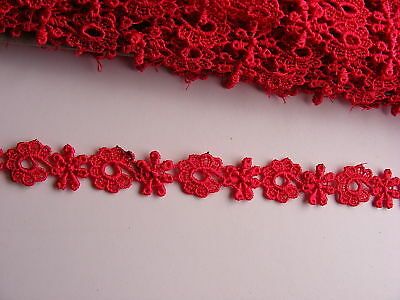 Guipure Red Trim -  15mts