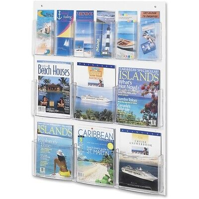 Safco Clear2c 6 Magazine and 6 Pamphlet Display 5668CL