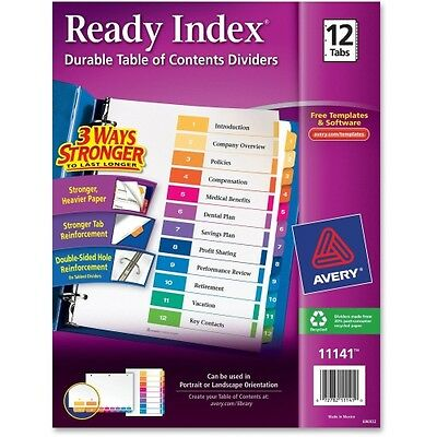 Avery Ready Index Table of Contents Reference Divider 11141