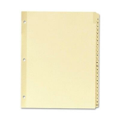 Sparco A-Z Clear Plastic Index Dividers 01806