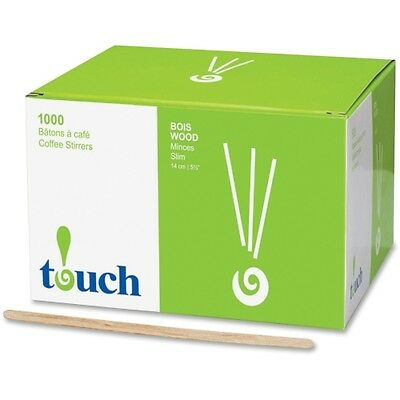 touch Stone Straw Wooden Coffee Stir Sticks 075201135