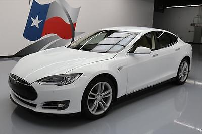 2013 Tesla Model S  2013 TESLA MODEL S 60 TECH HTD LEATHER NAV REAR CAM 37K #P23409 Texas Direct
