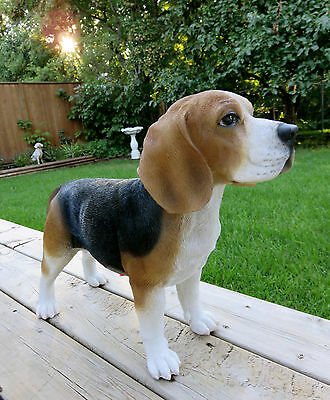 BEAGLE DOG STANDING FIGURINE resin animal Statue PET NEW dogs 15.5 H