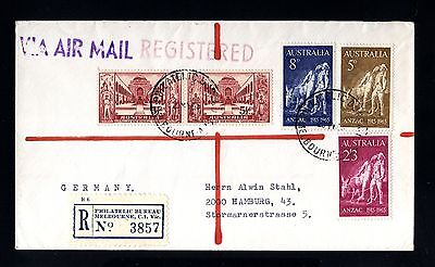 14272-AUSTRALIA-AIRMAIL REGISTERED COVER MELBOURNE to HAMBURG (germany)1965.