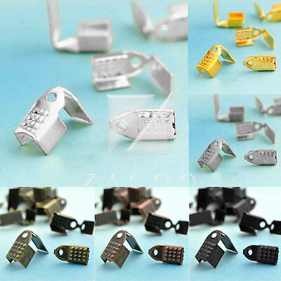 20g 60-100pcs Cord End Tips Connector Crimp Bead Cap Terminator Necklace Finding