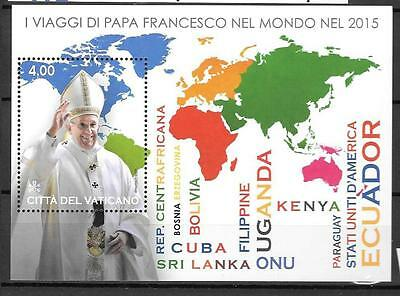 Vatican 2016 The Apostolic Journeys of Pope Francis MNH S/S