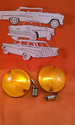 1957 Chevy LED Parklight Lens Amber Belair Sedan Hardtop Wagon Nomad Convertible