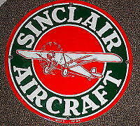 *sinclair Aircraft Porcelain Metal Sign    Nr