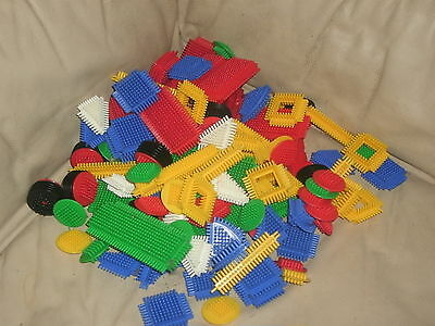 Large Lot Of 100 Pieces Of Stickle Bricks