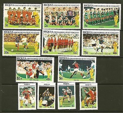 Bequia St. Vincent #218-29 MNH VF World Cup Soccer Championships Mexico