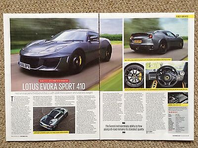 LOTUS EVORA Sport 410 - Test Drive Article