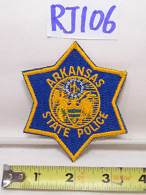 Vintage Police Department Patch Unused Nos Arkansas State Police Blue & Gold