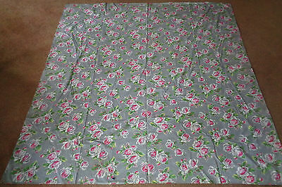 Vintage Gray Cotton Duvet Cover Pink Roses Double Size 69 x 70
