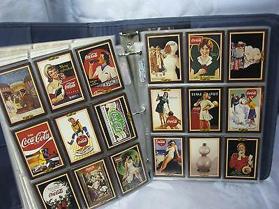 Coca Cola Collector Trading Cards Set of 528 in Mead Five-Star 3-ring Notebook