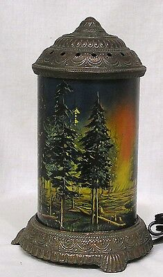 Early Vintage Motion Lamp Scene in Action Forest Fire 1930s