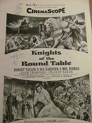 Knights of the Round Table, Robert Taylor, Ava Gardner, Promotional Ad