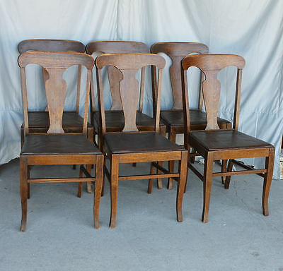 Excellent Antique Set Of Six Matching Oak Dining Chairs Original Cjindustries Chair Design For Home Cjindustriesco