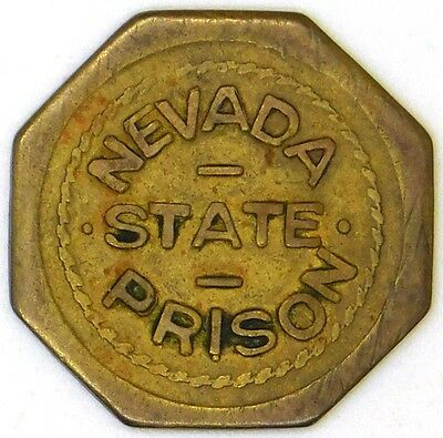 Nevada State Prison, NV Trade Token G/F 1 Cent