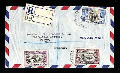 14234-NIGERIA-AIRMAIL REGISTERED COVER LAGOS to KENT (england)1961.BRITISH