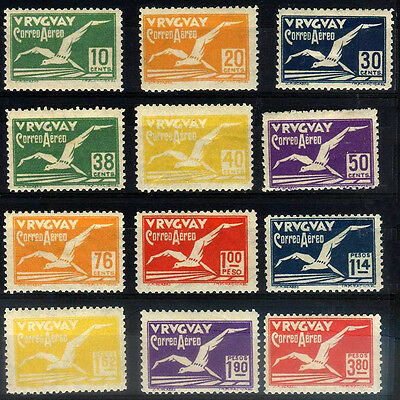 URUGUAY Yv A 14/25 Complete Set MH