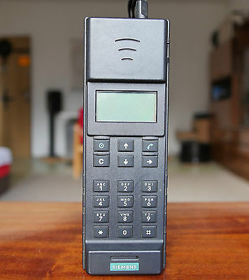 Siemens C4 Compact First C-Netz Vintage Brick Cell Mobile Phone Rare Retro