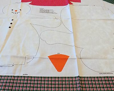 Country Snowman Cut & Sew Pattern Cranston Print Works
