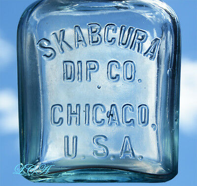Antique SKABCURA Sheep DIP bottle Veterinary Cure COCOCTION