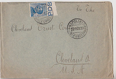 1909 Good Italy Italia Cover With High Value Stamp Mailed To Cleveland Ohio Usa