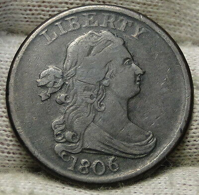 1806 Draped Bust Half Cent - Nice Coin, Free Shipping  (5544)