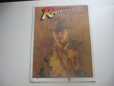 1981 Vtg. RAIDERS OF THE LOST ARK (Harrison Ford) CAST & CREW PRESS CARD/BOOKLET