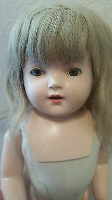 """Mary lee effanbee compostion 40's 20"""" with tag cloth body"""