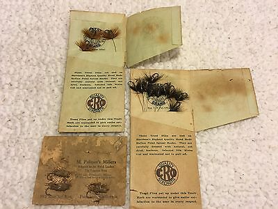 Great Old Rare Vintage Trout Flies Fishing Lures Crest Cro, Palmer's Millers
