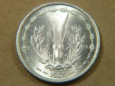 1965 West Africa States 1 Franc Coin