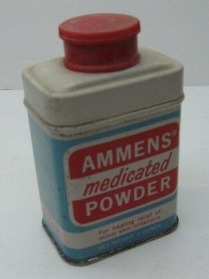 Antqiue Ammens Medicated Powder 1 oz Can