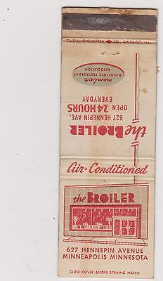 The Broiler-Minneapolis Matchbook Cover Free Shipping U.s