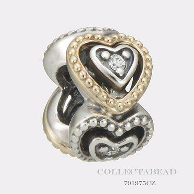 Authentic Pandora Sterling Silver Celebration of Love Clear CZ Bead 791975CZ