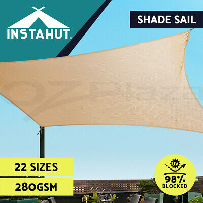 280GSM Extra Heavy Duty Shade Sail Sun Canopy Outdoor Triangle Square Rectangle