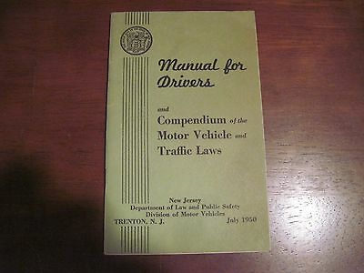 New Jersey Drivers Manual July 1950..Trenton, NJ.. 48pgs..Gd.Cond. Free Shipping