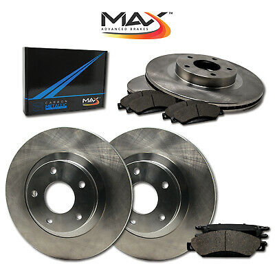 1996 1997 Lincoln Town Car OE Replacement Rotors w/Metallic Pads F+R