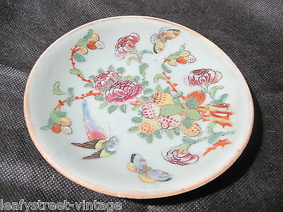 Antique Chinese Oriental Celadon / Cantonese ? Dish Seal Mark To Base