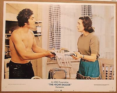 The NIGHT DIGGER 1971 Lobby Card ~ ROAD BUILDER ~ Nicolas Clay ~ PATRICIA NEAL