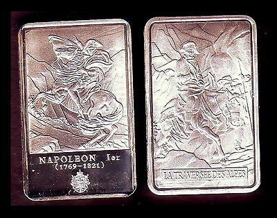 ● Silver Plated Bar ● France ● Napoleon : The Crossing Of The Alps ●