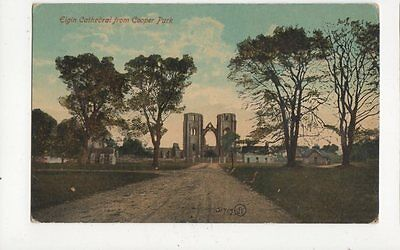 Elgin Cathedral From Cooper Park Vintage Postcard 127a